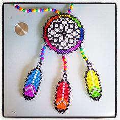 Dreamcatcher perler beads by kandi_gram