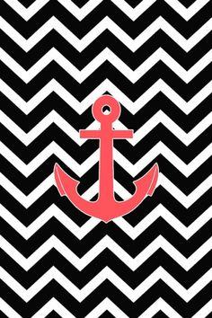 Anchor & chevron iphone wallpaper ⚓