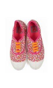 Pink flowers liberty tennis - Bensimon