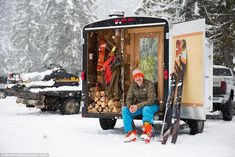 Man creates cosy portable sauna for the ultimate winter escape Saunas, Portable Sauna, Wood Spa, Spa Rooms, Cosy, Warm, Cool Stuff, Mail Online, Daily Mail