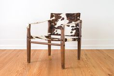This campaign chair was manufactured by Gold Medal Folding Furniture Co. in Racine, WI. (reupholstered)