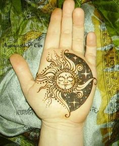 Sun and moon not on my hand though
