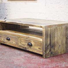 A bespoke Maribel coffee table with drawers ↟