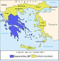 Megali Idea - Wikipedia, the free encyclopedia Greece History, Imaginary Maps, Greece Map, Greece Photography, Alternate History, European History, Arabian Nights, Historical Maps, Ancient Greece