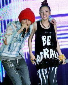2NE1′s Sandara Park + Big Bang's G-Dragon