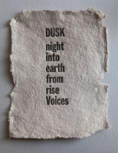 'Dusk', a poem by Samuel Menashe.