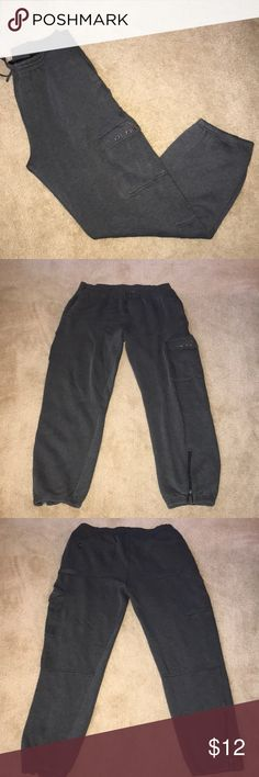 Decibel Sweatpants Dark grey, men's Decibel sweatpants with a lot of pockets. Tie at the waist and zippers at the ankle. Open to offers! Decible Pants Sweatpants & Joggers