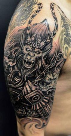 10 Monkey King Tattoo