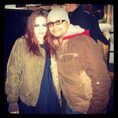 Kristen with fan...in november 2012