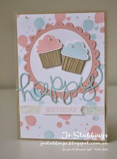 Independent Stampin' Up! Demonstrator located in Campbelltown, NSW. Simple Birthday Cards, Homemade Birthday Cards, Girl Birthday Cards, Birthday Cards For Women, Homemade Cards, Cupcake Birthday, Cricut Cards, Stampin Up Cards, Cupcake Card