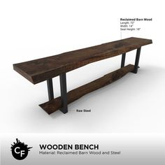 Wooden Bench by ChicagoFabrications