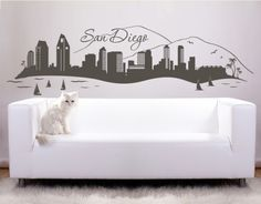 San Diego - Wall Decals / Wall Tattoo - WORLD & SKYLINES - CONTINENTS & CITIES