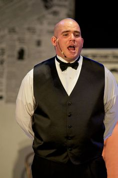 """LindenHall.org Mr. Jonathan Towles reprises his role as """"Daddy Warbucks"""" in the Linden Hall production of ANNIE!, The Musical. (Photo courtesy of Towles Photography)"""