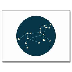 Constelação de Leo Cartão Postal