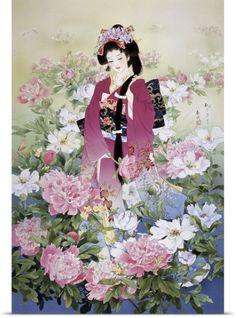 Haruyo Morita Poster Print Wall Art Print entitled Syakuyaku, None