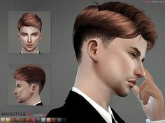 The Sims Resource: Hair N4 by S-Club • Sims 4 Downloads
