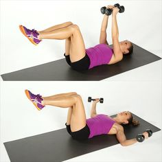 Melt Fat, Build Muscle: Dumbbell Blast Circuit Workout: Add some dumbbells to your fitness routine and build some metabolism-boosting muscle while toning your entire body. Check out the website to see Arm Exercises With Weights, Best Dumbbell Exercises, Dumbbell Workout, Chest Exercises, Dumbbell Fly, Body Exercises, Abdominal Exercises, Workout Circuit, Boxing Workout