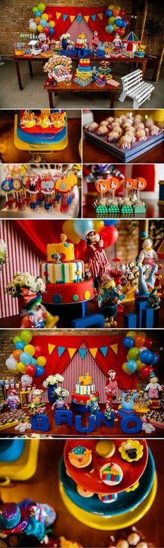 fotografo-festa-infantil-vilamariana Carnival Themed Party, Carnival Birthday Parties, Carnival Themes, Birthday Party Themes, Theme Parties, Shared Birthday Parties, Baby 1st Birthday, Clown Party, Curious George Party
