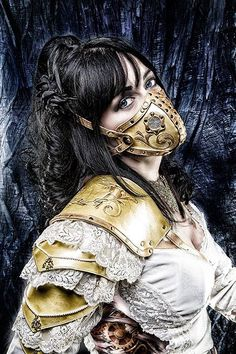 Steady New White Black Steampunk Gears Studded Gas Mask Respirator Cosplay Costume Gothic An Indispensable Sovereign Remedy For Home Back To Search Resultshome