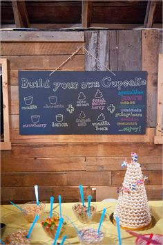 build your own cupcake bar