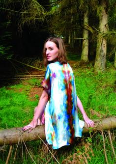 Hand-dyed silk Kimona-Kimono by Meiji www.meiji-designs.co.uk #handdyed #handprinted #luxury #bespoke #silkscarf #kimono #meiji