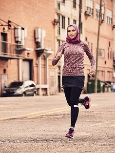 Women's Running just broke down another barrier – the magazine features Rahaf Khatib, a Muslim woman who wears a hijab, on their October cover. Khatib, 32, is a six-time marathoner who documents her training and celebrates other Hijabis – Muslim women who cover everything but their hands, feet
