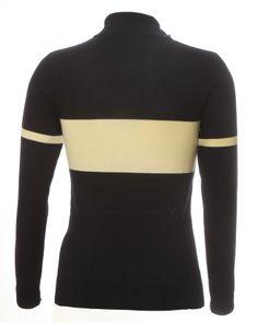 Navy Blue & Ecru 100% Italian Merino wool retro cycling jersey from Jura Cycle Clothing