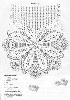 Cute oval crochet doily: