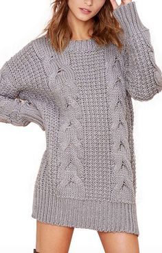 cable-knit sweater dress