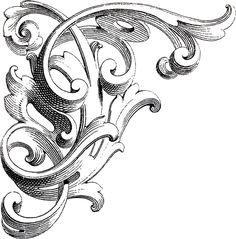 Vintage Corner Scrolls Design