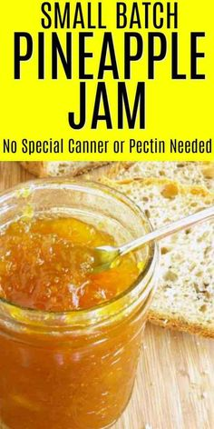 Small batch Pineapple Jam needs no pressure canning or pectin and yields a delicious and simple fresh pineapple jam in which you control the ingredients. How To Make Jam, Food To Make, Making Food, Candy Making, Fruit Jam, Fresh Fruit, Pineapple Jam, Canning Pineapple, Fresh Pineapple Recipes