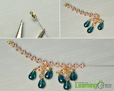 Make the main pattern of the beaded necklace