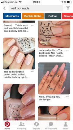 Nude Nails, Opi, Manicure, Bubbles, Nail Polish, My Favorite Things, Color, Beautiful, Ongles