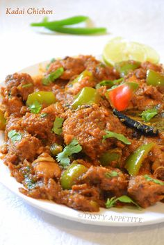 Kadai Chicken:   Kadai Chicken is a very famous non-veg delight in restaurants. This spicy & yummy North Indian recipe tastes juicy with dis...