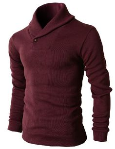 4f6827863de395 Men s One Button Point Shawl Collar Knited Slim Fit Pullover Sweater. I  wonder how it would actually look on me tho.