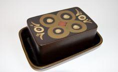 Denby. Arabesque. 1962-63. Butter dish.