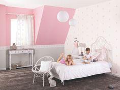 DECOILUZION - Papel pintado infantil Douce Nuit Bailarinas rosa