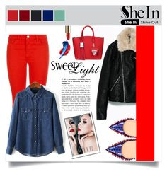 """""""Shein 4 (II)"""" by aida-banjic ❤ liked on Polyvore featuring J Brand, Christian Louboutin, Dolce&Gabbana, Estée Lauder, women's clothing, women's fashion, women, female, woman and misses"""