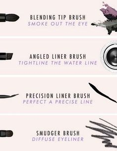 Know your brushes to keep your eyeliner looking damn fresh.