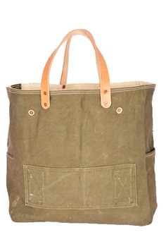 By Myself Handcrafted - Remake Military Shopper Bag