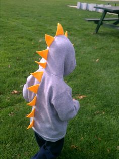 Spike the Dinosaur Hoodie by ALifeEmbellished on Etsy, $24.95
