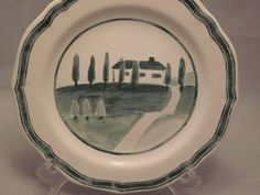 Beautiful Italian countryside decorative plate from Williams Sonoma.