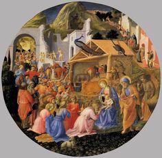 Поклонение волхвов.1445 г. Фра Филиппо Липпи. Национальное галлерея искусства, Вашингтон. Темпера по дереву.
