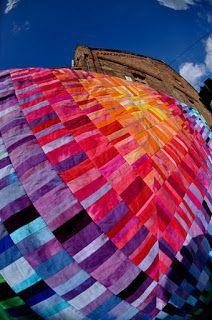 Rainbow quilt by Marzena Krzewicka