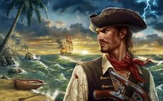 Wallpapers for Desktop: pirate backround, 1920x1200 (498 kB)