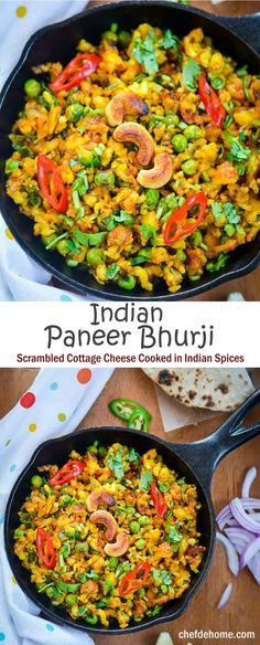 Punjabi Paneer Bhurji for Easy Indian Vegetarian Dinner | chefdehome.com
