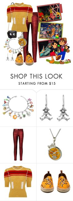 """Pleasure Island (Pinocchio, Disney)"" by funnfiber ❤ liked on Polyvore featuring Tedora, NOVICA, RtA, Be-Jewelled, Miu Miu, Loewe and Anya Hindmarch"