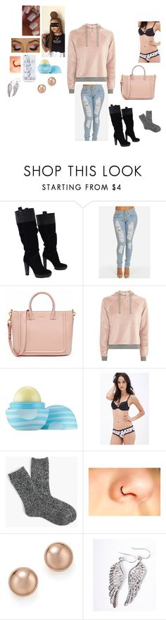 """""""Casual Day"""" by mrsminana95 on Polyvore featuring BCBGMAXAZRIA, Topshop, OPI, Essie, Eos, Forever 21, J.Crew, Bloomingdale's, MDKN and OTM"""