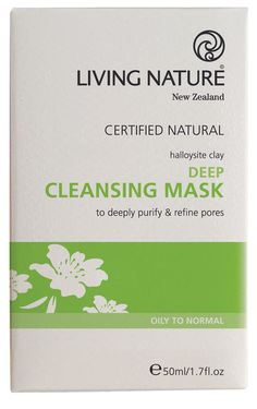 Living Nature's certified natural Deep Cleansing Mask detoxifies the skin, leaving it clear and balanced. Natural, cleansing face mask made in NZ. Cleansing Face Mask, Face Cleanser, Spot Treatment, Organic Skin Care, Natural Skin Care, Natural Beauty, Manuka Oil, Manuka Honey, Cleaning