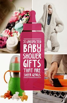 30 Unexpected Baby Shower Gifts That Are Sheer Genius. Seriously, I didn't know that half these things even existed. Cute Gifts, Diy Gifts, Bebe Love, Do It Yourself Baby, Baby Boys, Shower Bebe, Everything Baby, Baby Time, Having A Baby